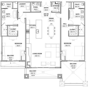 The St. Regis Deer Valley, Snow Park - Residence 202 Floorplan