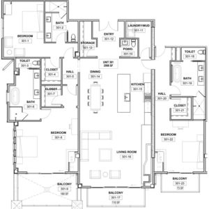 The St. Regis Deer Valley, Snow Park - Residence 301 Floorplan