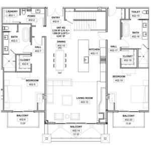The St. Regis Deer Valley, Snow Park - Residence 402 Floorplan