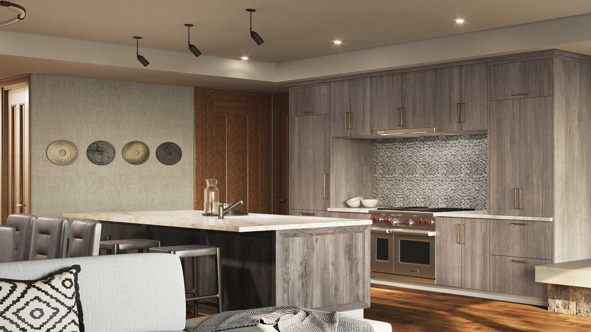 The Residences at The St. Regis Deer Valley | Snow Park - Kitchen Rendering