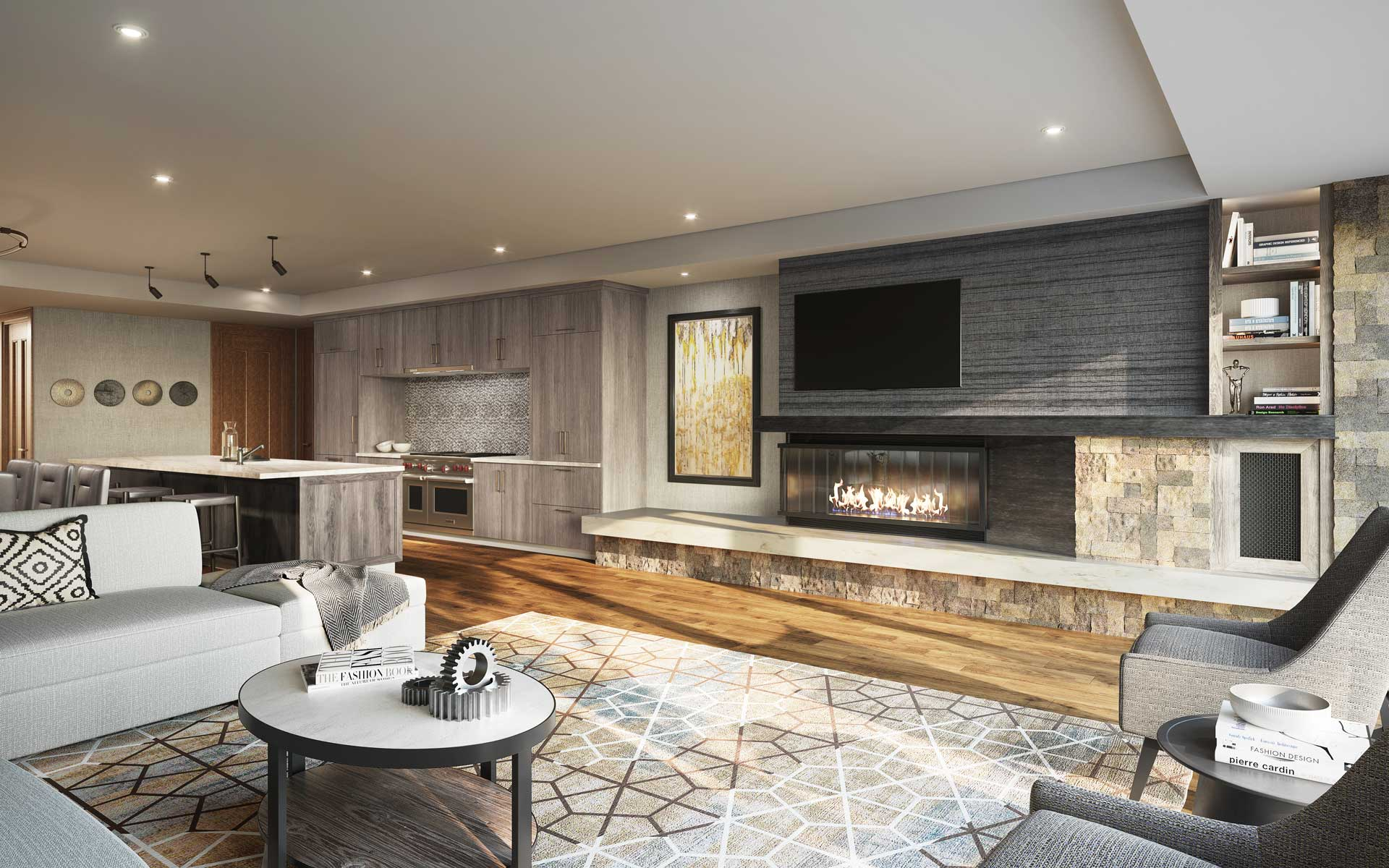 The Residences at The St. Regis Deer Valley | Snow Park - Parlor Rendering