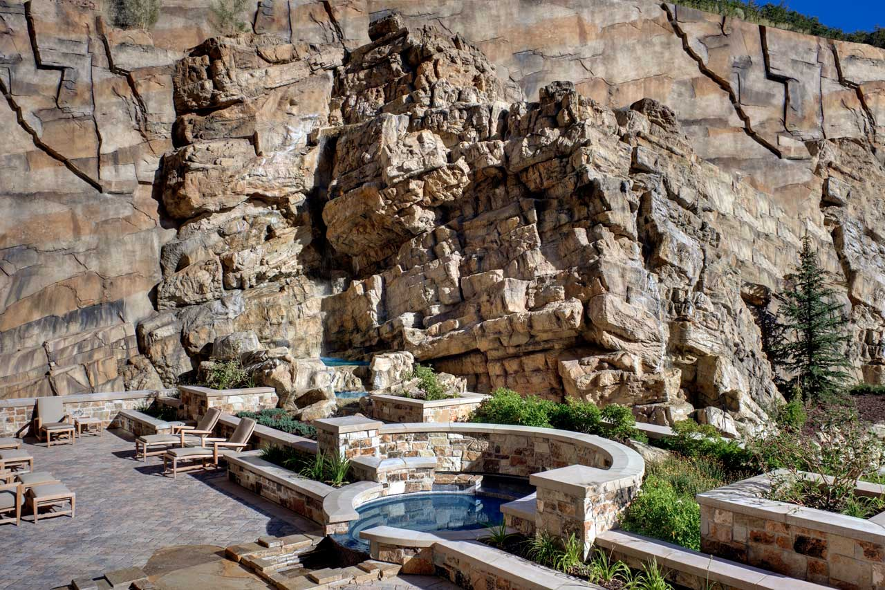 The St. Regis Deer Valley Spa Waterfall